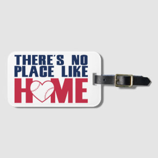 There's No Place Like Home Baseball Tags For Bags