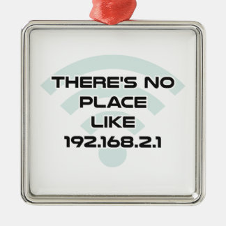 There's No Place Like Home IP Address Christmas Ornament