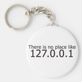 Theres no place like home ip address basic round button key ring