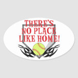 There's No Place Like Home! Oval Stickers