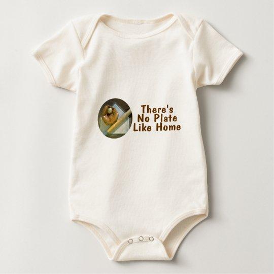 Theres No Plate Like Home (Baseball) Baby Bodysuit