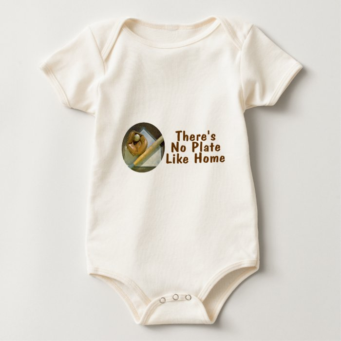Theres No Plate Like Home (Baseball) Baby Bodysuit