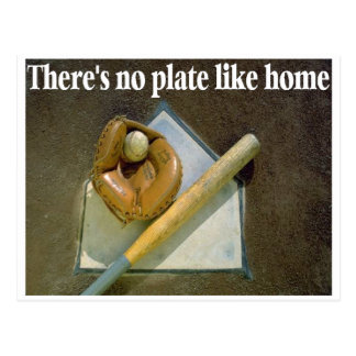 There's No Plate Like Home Postcard