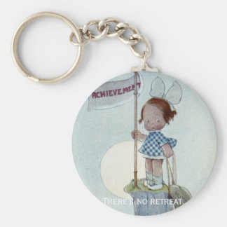 There's No Retreat Basic Round Button Key Ring