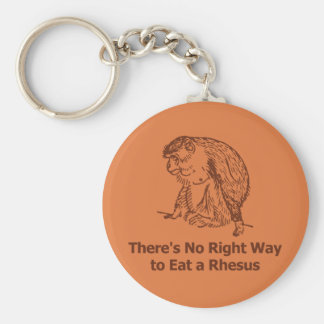 There's no right way to eat a rhesus basic round button key ring