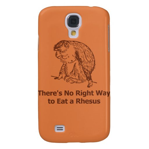 There's No Right Way to Eat a Rhesus Samsung Galaxy S4 Case