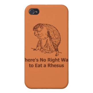 There's No Right Way to Eat a Rhesus Cases For iPhone 4