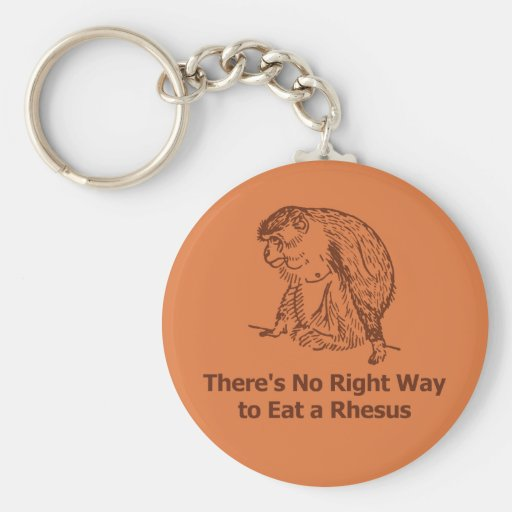 There's No Right Way to Eat a Rhesus Key Chain