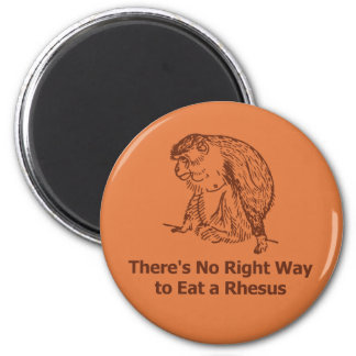There's No Right Way to Eat a Rhesus Refrigerator Magnet