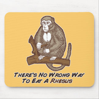Theres No Wrong Way To Eat A Rhesus Mousepads