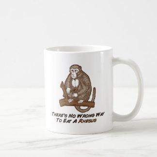 Theres No Wrong Way To Eat A Rhesus Coffee Mugs