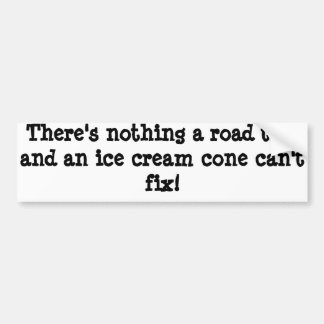 There's nothing a road trip and an ice cream cone bumper sticker