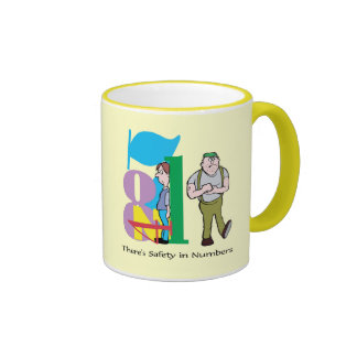 There's Safety In Numbers - Word Play Mugs