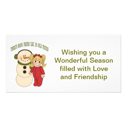 There's Snow Friend Like An Old Friend Holiday Car Photo Card