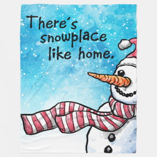 There's Snowplace Like Home Large Fleece Blanket