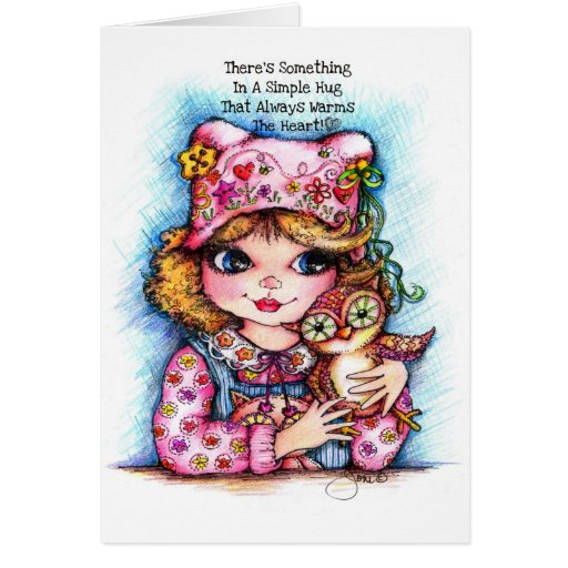 There's Something In A Simple Hug... Greeting Card