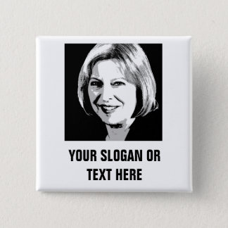 Theresa May Face Icon - 15 Cm Square Badge