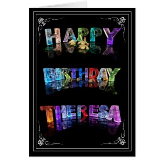 Theresa - Name in Lights greeting card (Photo)