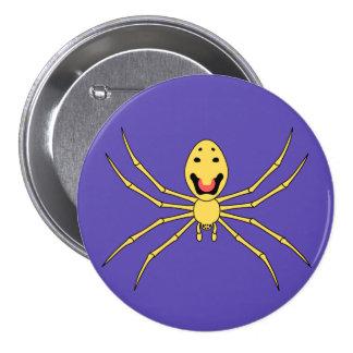 Theridion grallator AKA Happy Face Spider 7.5 Cm Round Badge