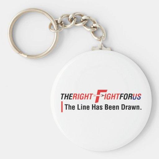 TheRightFightForUS w/ Tagline Keychain
