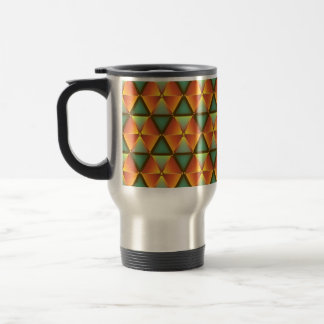 Thermal cup multicolored triangle