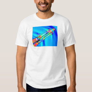 THERMAL IMAGE ATLANTIS SPACE SHUTTLE T SHIRTS