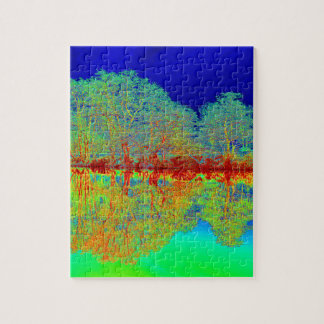 Thermal River Reflections Jigsaw Puzzle