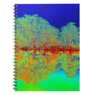 Thermal River Reflections Spiral Notebook
