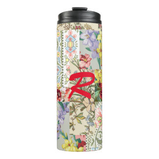 thermal tumbler a beautiful patchwork