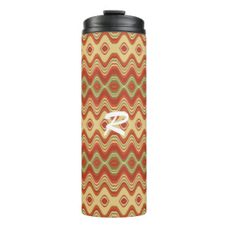 thermal tumbler a beautiful wave pattern