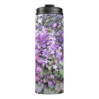Thermal Tumbler - Purple Hedge Flower Design
