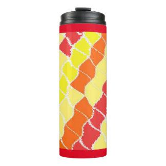 Thermal Tumbler - Red Yellow Dazzle Design