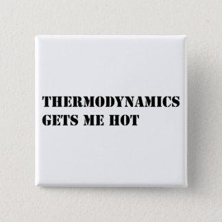 Thermodynamics gets me hot 15 cm square badge