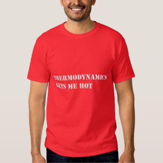 Thermodynamics gets me hot tee shirt