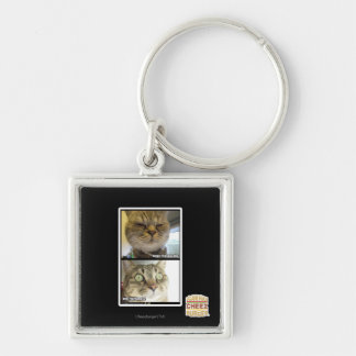 Thermometer Silver-Colored Square Key Ring