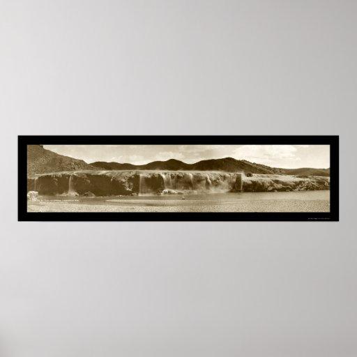 Thermopolis Falls, WY Photo 1914 Poster