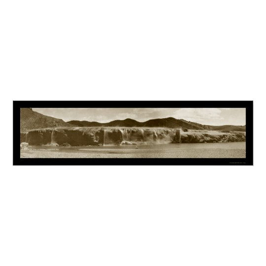 Thermopolis Falls, WY Photo 1914 Poster