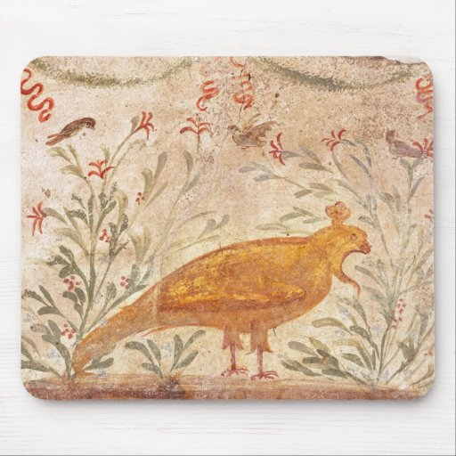 thermopolium  depicting phoenix and inscription mouse pad
