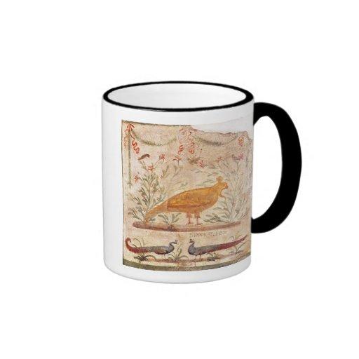 thermopolium  depicting phoenix and inscription mugs