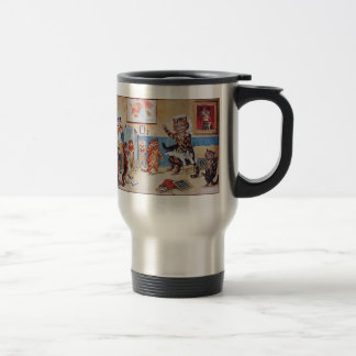 Thermos: Funny Cats:  The Naughty Puss by Louis Wa Stainless Steel Travel Mug