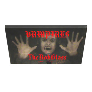 TheRobGlass Vampires 48'' x 32'' Vampire Painting Stretched Canvas Print