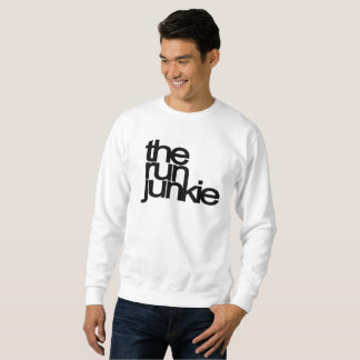 TheRunJunkie - Mens Sweat Top - White