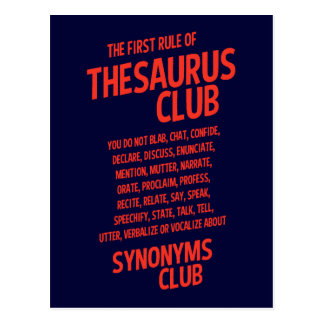 Thesaurus Club Postcard