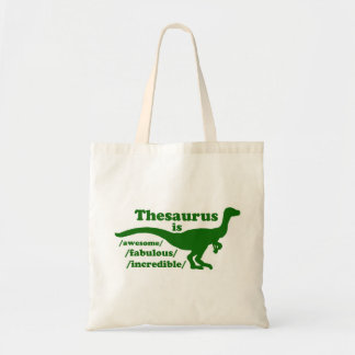 Thesaurus Dinosaur is Awesome Tote Bag