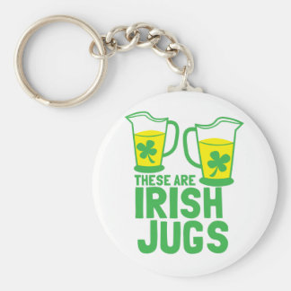 These are IRISH Jugs St Patricks design Basic Round Button Key Ring