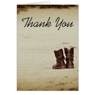 These Boots.. Greeting Card