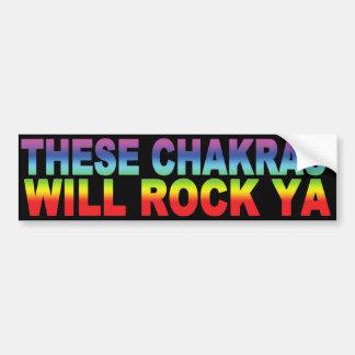 These Chakras Will Rock Ya Bumper Sticker
