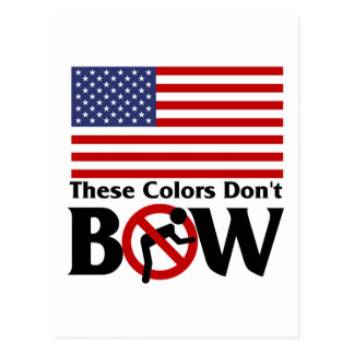 These colors don't Bow! Postcard