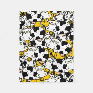 These Cows Escaped from the Farm Fleece Blanket