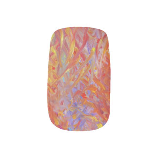 These nails are on fire! fingernail transfers
